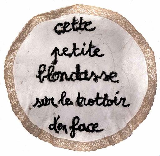 Il se noie, 2012. Dentelles, 100 x 100 cm.