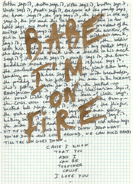 Babe I'm on fire, 2013. Technique mixte, 33 x 25 cm.
