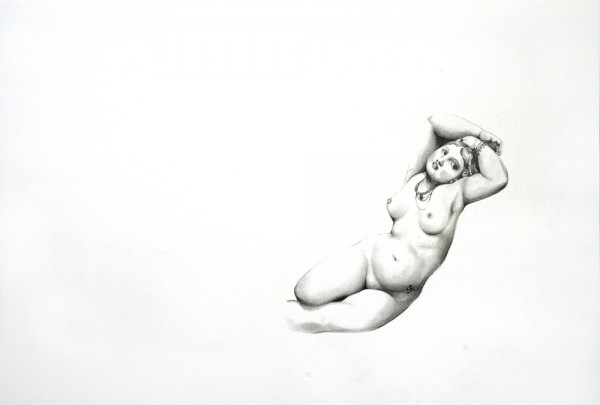 Tatouages, Ingres #2, 2006. Mine de plomb, 50 x 65 cm.