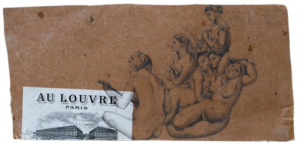 Tatouages, Ingres #8, 2006. Mine de plomb, 14 x 22 cm.