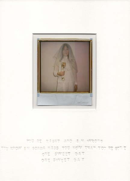 One sweet day, 2013. Polaroïd, 30 x 22 cm.