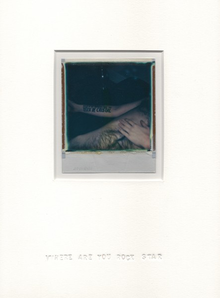 Where are you rock star, 2013. Polaroïd, 30 x 22 cm.