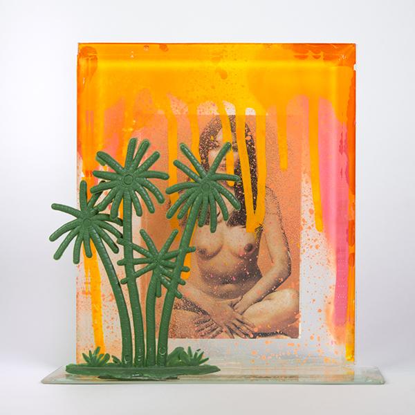Elle est née des caprices, 2016. Technique mixte. 15 x 16 x 5 cm.