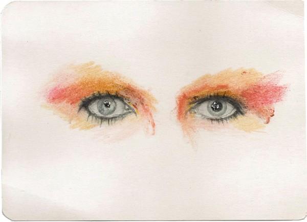 REGARD-bowie #13, 2012. Mine de plomb, paillettes, 20,5 x 15 cm.