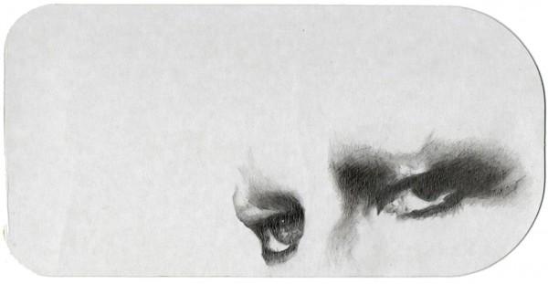 REGARD-bowie #18, 2012. Mine plomb, 9,5 x 19 cm.