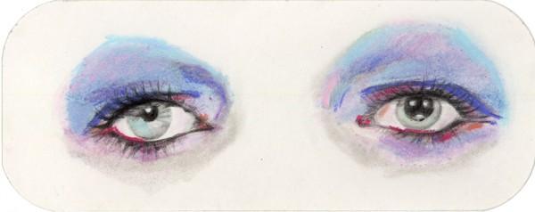REGARD-bowie #2, 2012. Mine de plomb, pastel, 8,5 x 21 cm.