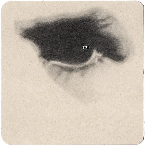 REGARD-bowie #29, 2013. Mine de plomb, paillettes, 14 x 14 cm.