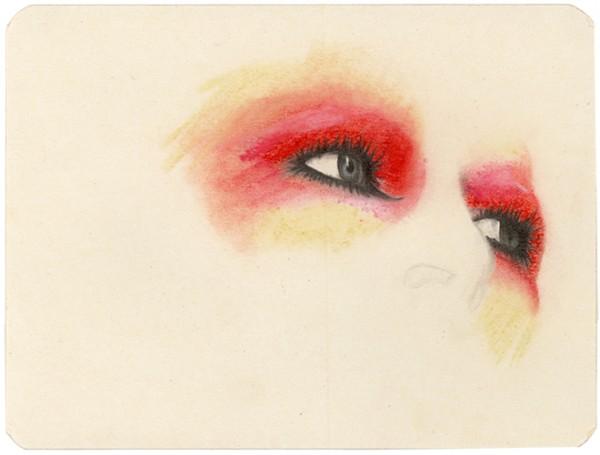 REGARD-bowie #4, 2012. Mine de plomb, pastel, 15 x 20,5 cm.