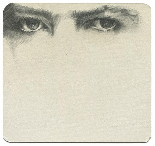 REGARD-bowie #42, 2015. Mine de plomb,14,5 x 14 cm.